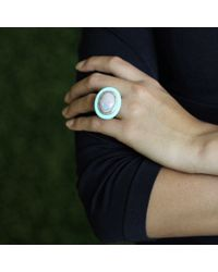 Wendy Yue Blue Opal And Turquoise Ring