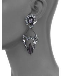 Alexis Bittar | Black Miss Havisham Liquid Crystal Pyrite & Crystal Broken Glass Clip-on Drop Earrings | Lyst