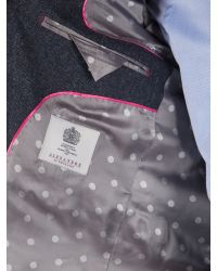 Alexandre Of England Blue Formal Donegal Button Blazer for men