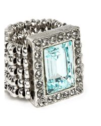 Philippe Audibert | Blue Elea Rectangular Erinite Stone Elasticated Ring | Lyst