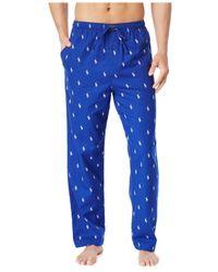 Polo Ralph Lauren | Blue Drawstring Pony-print Flannel Pajama Pants for Men | Lyst