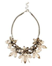 Coast   Gray Floral Necklace   Lyst