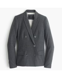 J.Crew | Gray Double-breasted Blazer In Wool Flannel | Lyst