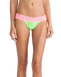 Hanky Panky Green Colorplay Low Rise Thong