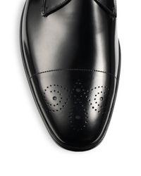 Prada Black Spazzolato Monk Strap Loafers for men