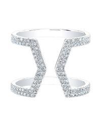Anne Sisteron | Metallic 14kt White Gold Diamond Cinder Ring | Lyst