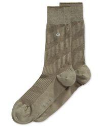 Calvin Klein | Green Diagonal Textured Crew Socks for Men | Lyst