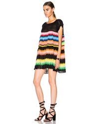 Missoni | Black Striped Mini Dress | Lyst