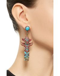 Lydia Courteille | Multicolor One Of A Kind Totem Pole Earrings | Lyst