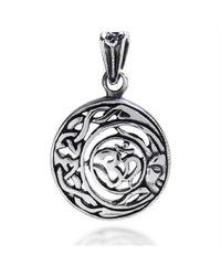 Aeravida | Metallic Divine Peace Sun Celtic Om Sterling Silver Pendant | Lyst