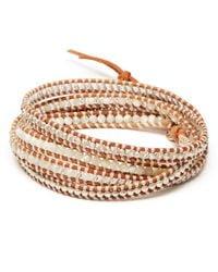 Chan Luu - White Mixed Five Wrap Bracelet - Lyst