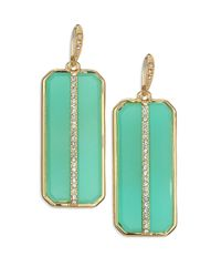 ABS By Allen Schwartz | Metallic Seaglass Brights Octagonal Pave Drop Earrings | Lyst
