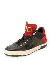 575f310ee890f Lyst - Ferragamo Monroe Low-top Sneaker in Green for Men