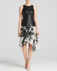 Bailey 44 | Multicolor Dress - Singita Sleeveless Faux Leather Top & Printed Chiffon Skirt | Lyst