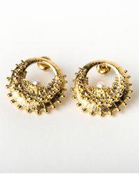 De La Forge | Metallic Echinoidea Gold Earrings | Lyst