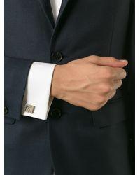 Burberry Metallic 'House Check' Square Cufflinks for men