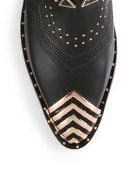 Ivy Kirzhner | Black Sante Fe Leather Cap-toe Ankle Boots | Lyst