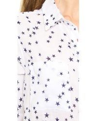 Rails White Madison Button Down Stars