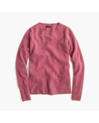 J.Crew | Purple Italian Cashmere Long-sleeve T-shirt | Lyst