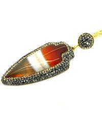Soru Jewellery - Metallic Agate Arrow Necklace - Lyst