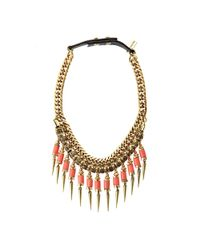 Jenny Bird | Metallic Kuta Collar - Peach | Lyst