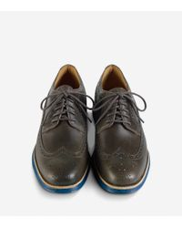 Cole Haan - Gray Lunargrand Long Wingtip Oxford for Men - Lyst