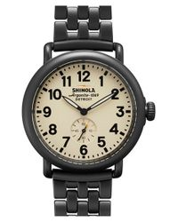 Shinola - Gray 'the Runwell' Round Bracelet Watch for Men - Lyst