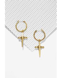 Luv Aj - Metallic Golden Rule Earrings - Lyst