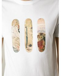 Paul Smith | White Skate Board Print T-Shirt for Men | Lyst