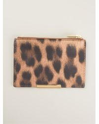 Sophie Hulme - Brown Leopard Print Zip Purse - Lyst