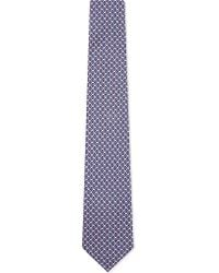 Ferragamo | Blue Mini Elephant Silk Tie - For Men for Men | Lyst