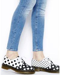 Dr. Martens Black Core Meris Dot 3eye Shoes