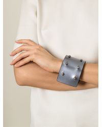Rick Owens   Gray Studded Bracelet for Men   Lyst