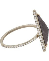 Monique Pean Atelier - White Diamond & Sapphire Ring - Lyst