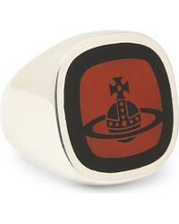 Vivienne Westwood Red Roxy Orb Ring - For Men for men