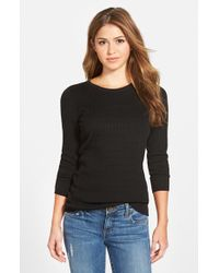 NIC+ZOE | Black 'allegro' Crewneck Sweater | Lyst