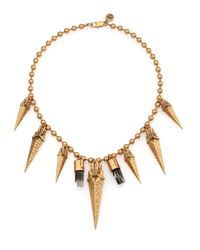Tory Burch | Metallic Arrowhead Bib Necklace | Lyst