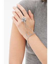 Forever 21 | Metallic Rhinestoned Pendant Hand Chain | Lyst