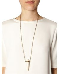 Isabel Marant - Metallic Cobain Buffalo Bone Necklace - Lyst