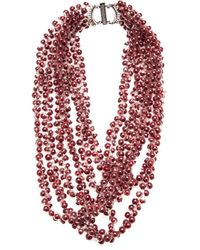 Jean-Francois Mimilla - Purple Small Glass Bead Necklace - Lyst