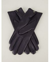 Agnelle Blue Lambskin Gloves