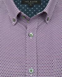 Ted Baker - Purple Lonmaul Circle Print Shirt for Men - Lyst