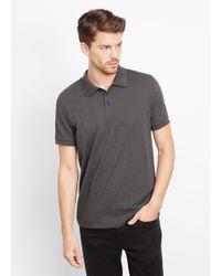 Vince | Gray Slub Cotton Short Sleeve Polo for Men | Lyst