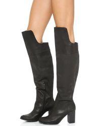 Schutz Black Leather Boots