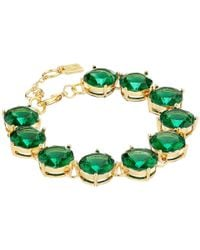 Lauren by Ralph Lauren | Green Large Faceted Round Stone With Lobster Closure Bracelet | Lyst