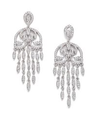 Adriana Orsini | Metallic Pavé Crystal Fringe Chandelier Earrings | Lyst