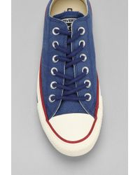 Converse - Blue Chuck Taylor All Star Washed Canvas Lowtop Mens Sneaker for Men - Lyst