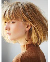 Free People - Metallic Lauren Hill Womens Channel Hoop Earrings - Lyst