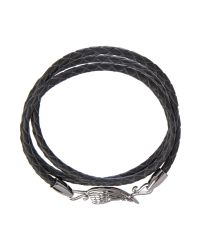 Simon Carter - Black Gunmetal Wing Wrap Bracelet for Men - Lyst