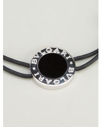 BVLGARI | Black Adjustable Bracelet | Lyst